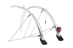 Raleigh 700x35 Silver Square Element Flare Mudguard Set