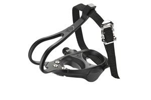 """Raleigh 9/16"""" Resin Road Pedal Toe Clips & Straps"""
