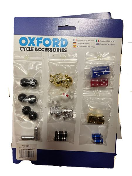 Oxford Assorted Valve Caps 12Pk Carded