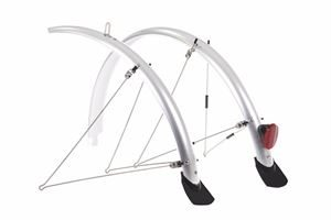 Raleigh 26x60mm Silver Elements Flare Mudguard Set