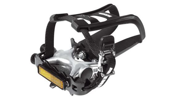 """Raleigh 9/16"""" Alloy Pedals Toe Clips & Straps"""