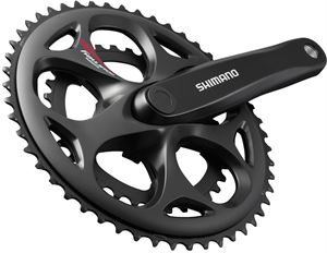 Shimano A070 Double 50/34t Road Chainset Sqaure Taper 170mm Black