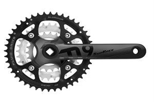 Raleigh 44/32/22T 175mm 9 Spd Black Alloy Chainset