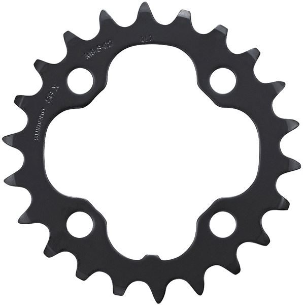 Shimano FC-M431-8 Chainring & Protector, 26t, Black