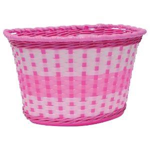 Oxford Junior Woven Basket - Pink