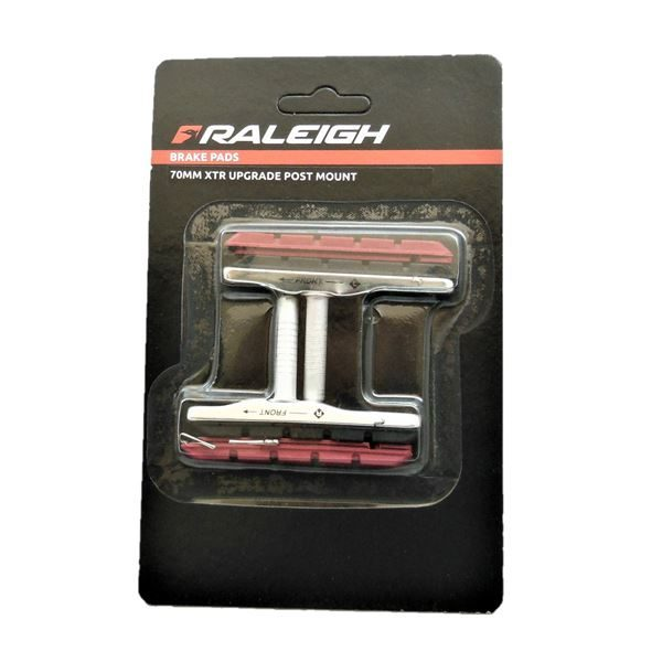 Raleigh 70mm Post Type XTR Upgrade Brake Blocks and Extra Pad